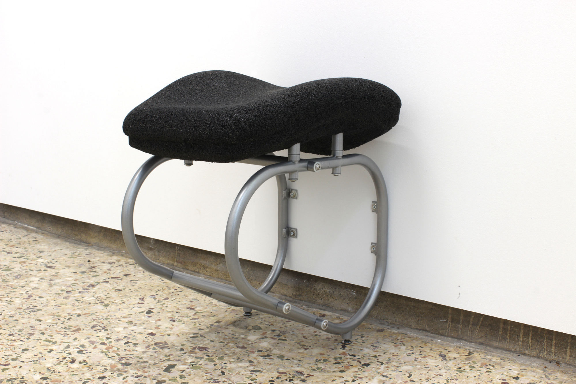 James Fuller - Wall Seat, 2020 - Tyre Chippings, Powder Coated Steel, Reinforced Plaster Polymer - 03